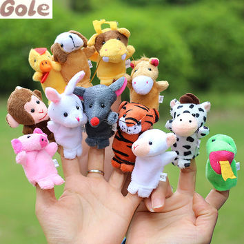 Titeres De Dedo 12 Zodiac Plush Finger Puppets Kids Funny Plush Toy Story Puppet Theater Multifunctional Learning  Marionnette