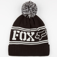 Fox Grand Pom Beanie Black One Size For Women 23825610001