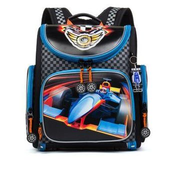 Russian Brand Grizzly School Bags for Boy Folded Waterproof Orthopedic Children Backpack with Keychain Gift Mochila Infantil
