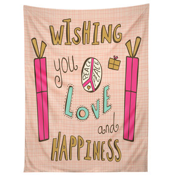 Heather Dutton Peace Love And Happiness Tapestry
