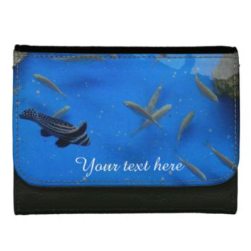 Underwater world fishes swimming wallets