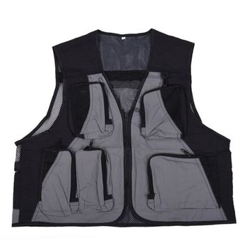5 Pockets Lure Fly Fishing Vest Light Weight Waistcoat With Mesh Breathable Fishing Vest Outdoor Hunting Hiking Fishing Clothing