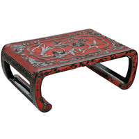 Cinnabar Carved Chinese Low Table RFS Collection