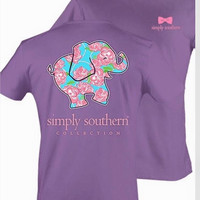 Purple Elephant Simply Southern Tee