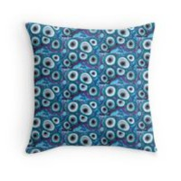 'Cells | Abstract Painting' Floor Pillow by Maria Meester