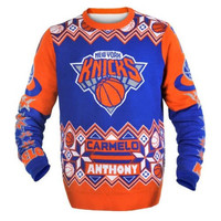 New York Knicks Carmelo Anthony Official NBA Ugly Sweater