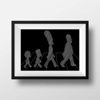 Simpsons Print - Abbey Road simpsons movie wall art decor print