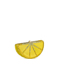 Judith Leiber Couture Slice Crystal Pillbox