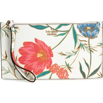 kate spade new york cameron street blossom ariah coated canvas pouch | Nordstrom