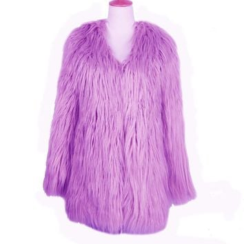 LAVENDER DREAMZ FUR COAT