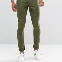 ASOS Super Skinny Jeans In Green