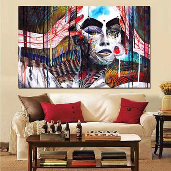 HD Print Wall Art 3D Buddha Meditation Psychedelic Poster Painting on Canvas Modern Cuadros Decoration Picture For Living Room