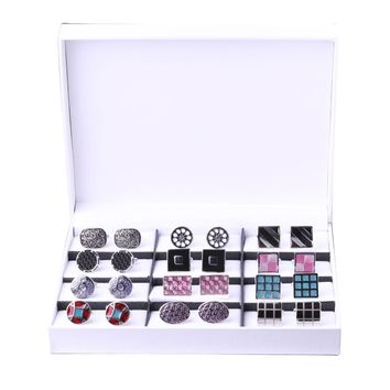 BodyJ4You Cufflinks Elegant Gift Set Men's Cuff Links 12 Pack