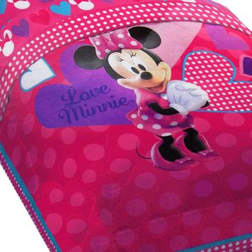 Disney Minnie Mouse Bed Comforter Hearts Bow-tique Bedding