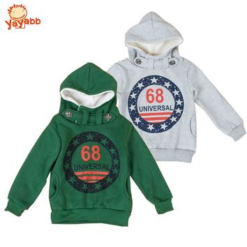 3 4 5 6 7 8 9 10 Year Boys Hoodies Thicken Warm Autumn Winter Childrens Outerwear Letter Printed Kids Jackets for Boys