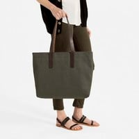 The Twill Zip Tote