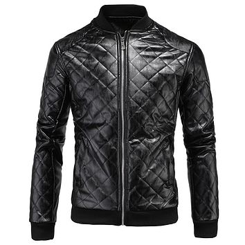 Men 's Leather Jackets Garments Collar Men' s Leather Automotive Jacket And Coat