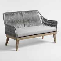 Gray Rapallo Outdoor Occasional Bench