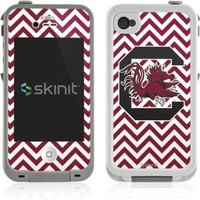 University of South Carolina Lifeproof iPhone 4&4s Skin - South Carolina Chevron Print Vinyl Decal Skin For Your Lifeproof iPhone 4&4s