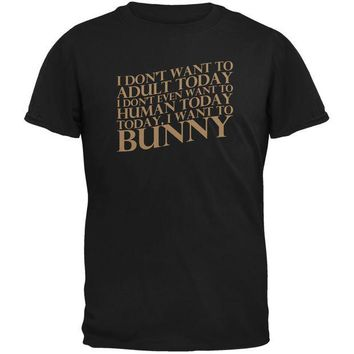 DCCKJY1 Don't Adult Today Just Bunny Rabbit Black Youth T-Shirt