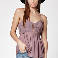 Kendall & Kylie Crochet Inset Tunic Cami Tank Top at PacSun.com