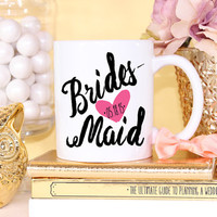 Bridesmaid Custom Mug- Coffee Cappuccino Tea Mug - Maid of Honor Bridesmaid Gift