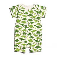 Green Dinosaur- Organic Jumpsuit by Winter Water Factory