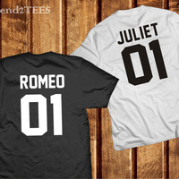 Romeo and Juliet Shirts Couples, Romeo and Juliet Couple Shirts, 100% Cotton T Shirts Set 01