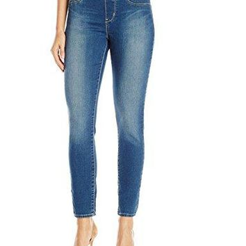 Signature by Levi Strauss & Co Women's Totally Shaping Pull On Skinny Jeans, Harmony, 6 Medium