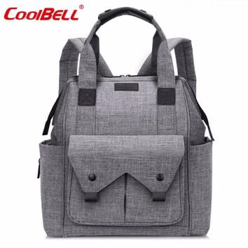 CoolBell Nylon Baby Diaper Nappy Bag Large Capacity Stroller Bag Waterproof Multifunctional Mummy Bag For Baby Care