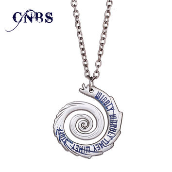 Doctor Who Wibbly Wobbly Timey Wimey Necklace can dropshipping Metal Charm Pendant Cosplay Accessories Jewelry Gift