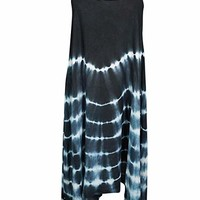 Mogul Interior Rocio Women's Strap Dress Cover up Casual Tie dye Tessel HemS/M (Black,White): Amazon.ca: Clothing & Accessories