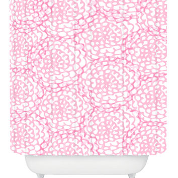 Julia Da Rocha Bed Of Roses Shower Curtain