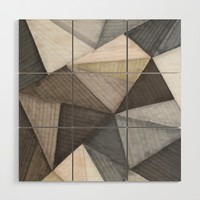 Geometric experience 02 Wood Wall Art by vivigonzalezart