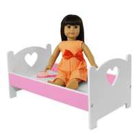 """Doll Bed Furniture For American Girl & Other 18"""" Inch Dolls"""