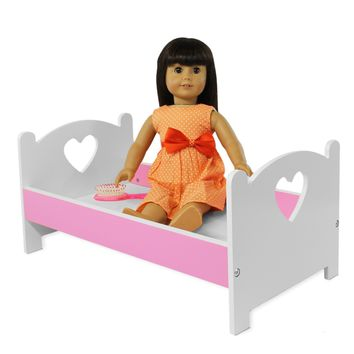 "Doll Bed Furniture For American Girl & Other 18"" Inch Dolls"