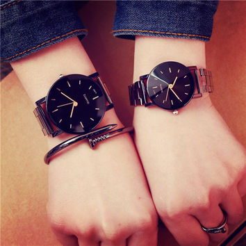 BGG Top Fashion Brand Diamond-shaped surface Men and Women Quartz Watch Stainless Steel Simple White Black Lovers Wrist watches