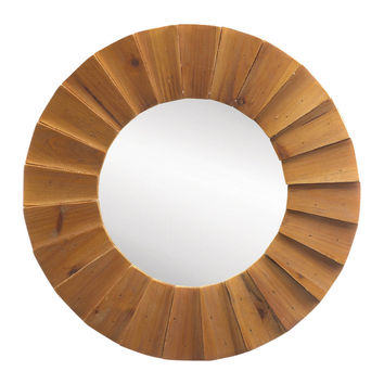 Decorative Mirrors For Walls, Contemporary Elegant Beam Sunburst Wall Mirror