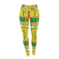 "Tobe Fonseca ""Spring"" Yellow Seasonal Yoga Leggings"