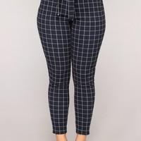 The Sweet Life Tie Waist Pants - Navy