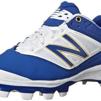 CREYON new balance pl4040v3 tpu molded cleats low cut blue white