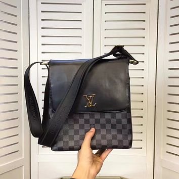 LV Louis Vuitton MEN'S NEW MONOGRAM LEATHER CROSS BODY BAG