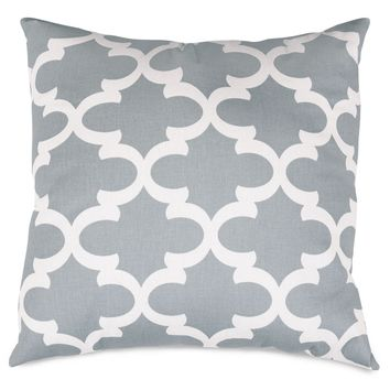 Gray Trellis Large Pillow