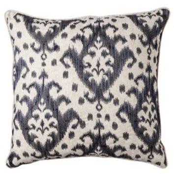 "Threshold™ Embroidered Ikat Toss Pillow - Xavier Navy (18x18"")"