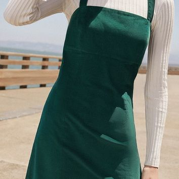 UO Torin Empire-Waist Corduroy Dress | Urban Outfitters
