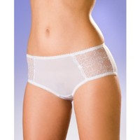 Camille Womens Ladies Lace Sheer Mesh Daisy Underwear Boxer Shorts