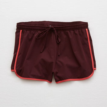 Aerie Track Short, Deep Plum