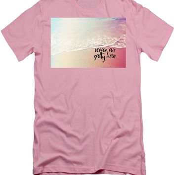 Ocean Air, Salty Hair, Watercolor Art By Adam Asar - Asar Studios 1 - Men's T-Shirt (Athletic Fit)