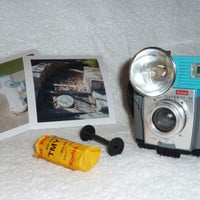 Kodak Brownie Flashmite With New Film Upcycled Blue