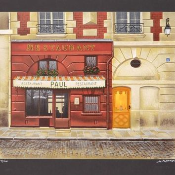Epicerie P. Legrand Confiserie - Limited Edition Serigraph on Paper by Andre Renoux (1939-2002)